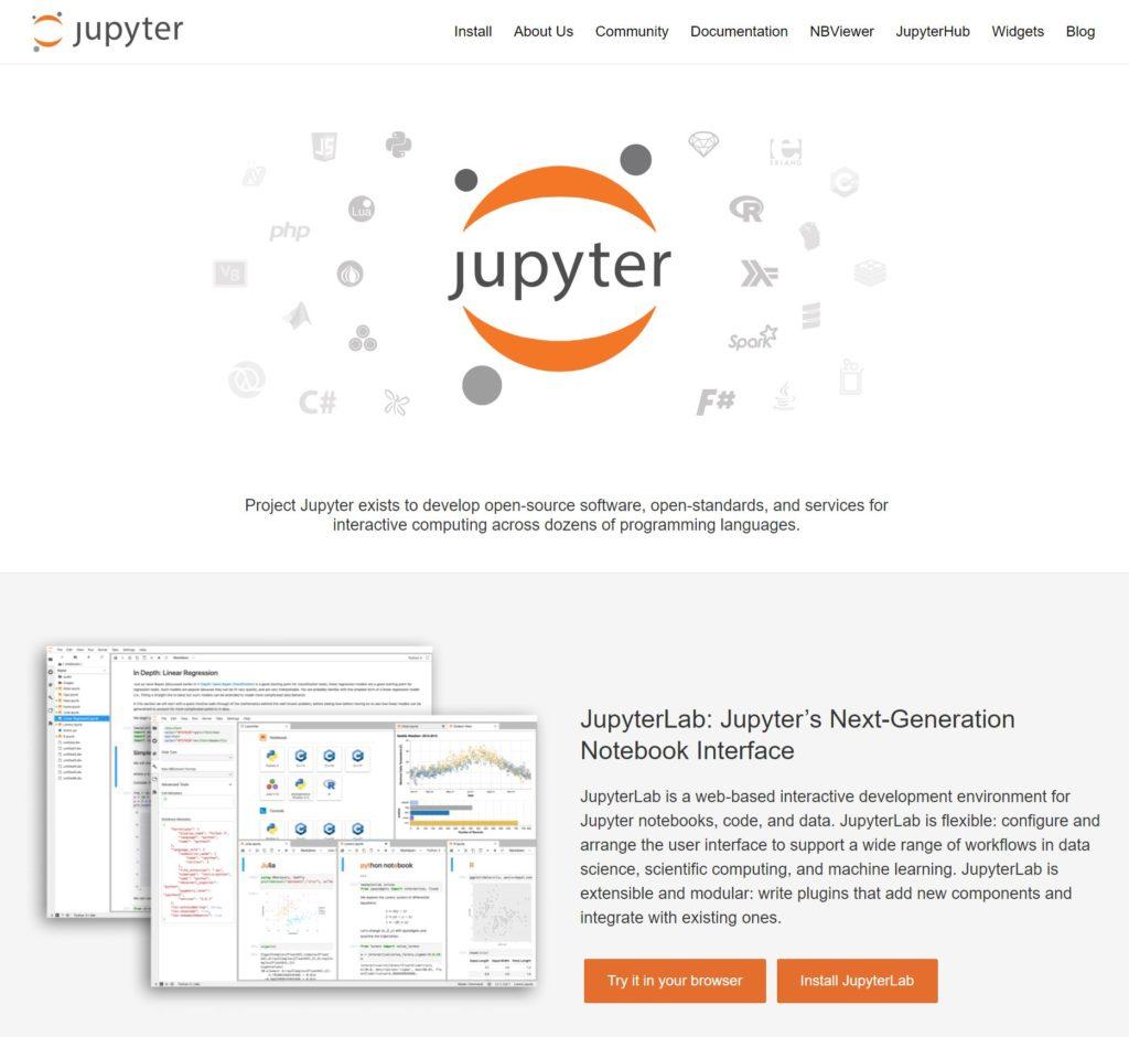 JupyterNotebook画面